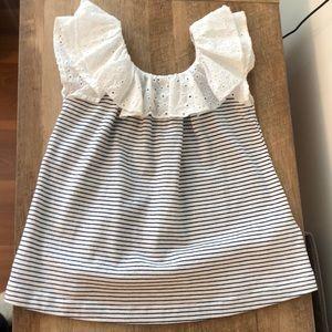 Gap Toddler Girl- Eyelet Ruffled Top